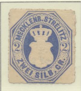 Mecklenburg-Strelitz Stamp Scott #5, Unused, No Gum - Free U.S. Shipping, Fre...
