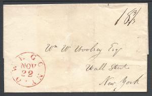 Owego NY Nov 22 (Tioga Co), Folded Letter , New York