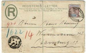 Sierra Leone 1904 Mano Salijia cancel on registry envelope to Germany