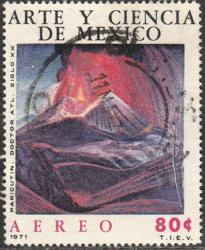 MEXICO C383 Art & Science, Dr Atl, Paricutin Volcano Used. VF. (815)