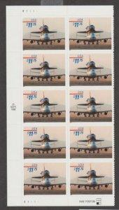 U.S. Scott #3262 Piggyback Space Shuttle Stamp - MNH Blk of 10 - Face V. $117.50