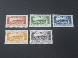 French Guiana 1933 Sc C1-C5 MH