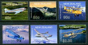 New Zealand 1714 -1718, MNH.Aircraft Set,2001