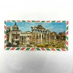1953 Italian air mail stationery 1 piece cover and letter Rome picture