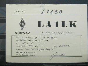 4184 QSL Card Mosjoen Norway 1969