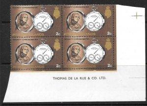 PITCAIRN ISLANDS SG95 1969 2c DEFINITIVE BKOCK OF4  MNH