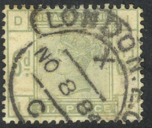 GREAT BRITAIN 1883-84 QV 6d Green Sc 105 Used