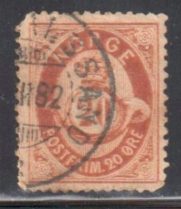 Norway #27 USED With the Variety ERROR DOUBLE PRINT - RRR   C$500.00