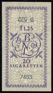Luxembourg Cigarette Tax Stamp; Used (3Stars)