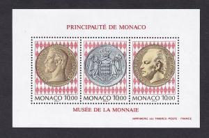 Monaco  #1925   MNH   1994   sheet currency museum