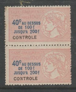 France and Colonies revenue Fiscal stamp 11-18-20-- some Gum