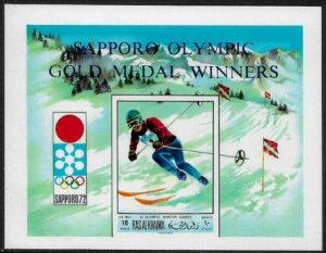Ras Al Khaima Michel #Block99B MNH S/Sheet - Olympic Gold Medalists