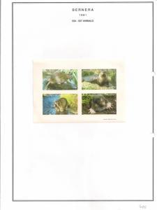 SCOTLAND - BERNERA - 1981 - Animals - 4v Imperf  Sheet - MLH