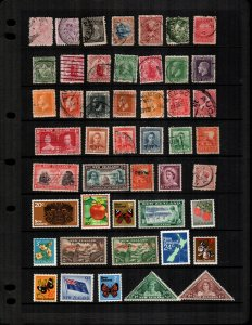 New Zealand  48  different  used and mint  hinged