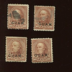 Guam 8 Lot of 4 Mint and   Used   Stamps   (Stock Bx 1069)