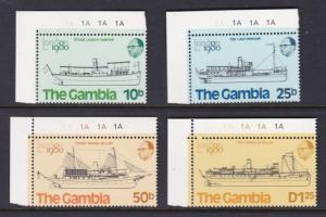 Gambia MNH 408-11 Sailing Ships 1980