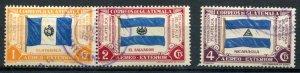 Guatemala SC# C99a, b,d Flags  CDS &  Used SCV $3.00