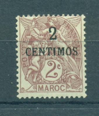 French Morocco sc# 12 mh cat value $2.40