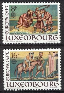 Luxembourg 1983, Europa Cept set VF MNH, Mi 1074-1075
