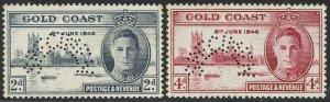 GOLD COAST 1946 KGVI VICTORY SPECIMEN SET