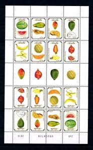 [ARV772] Aruba 2014 Fruits Miniature Sheet MNH