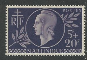 Martinique # B11   Red Cross 1944   (1) VF Unused