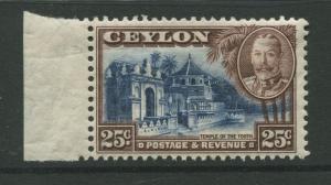 Ceylon -Scott 271 - KGV Definitive Issue - 1935 - MH - Single 25c Stamp