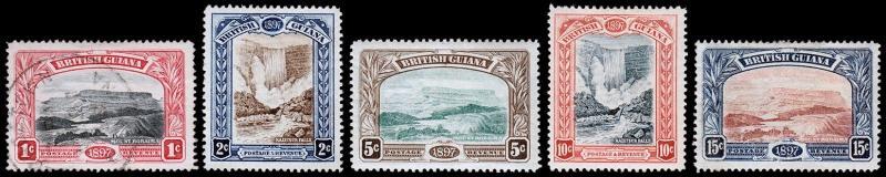 British Guiana Scott 152-156 (1898) Mint/Used H/HH F Complete Set, CV $167.50 M