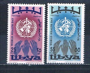 Libya 336-37 MNH set WHO reaching hands 1968 (L0704)