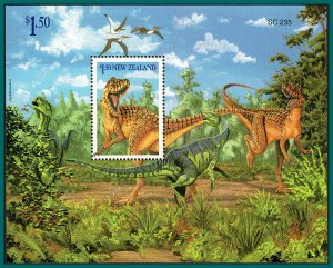 New Zealand 1993 Dinosaurs, MS MNH #1184a,SGMS1768