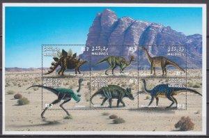 1999 Maldive Islands 3261-66KL Dinosaurs 10,00 €