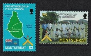 Montserrat World Cup Cricket West Indies 2v 2007 MNH SG#1349-1350