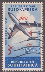 South Africa: Scott #280 AIRPLANE topical, used single
