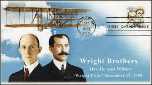 AO-C91, 1978, Wright Brothers,  Add-on Cachet, First Day Cover, SC C91,