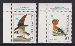 Yugoslavia   #1728-1729  MNH  1985   Europe nature conservation. birds