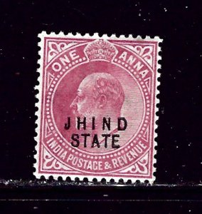 India-Jhind 69 MLH 1907 overprint