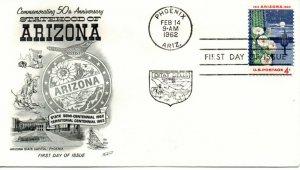 US FDC #1192 Arizona, Fleetwood (0368)