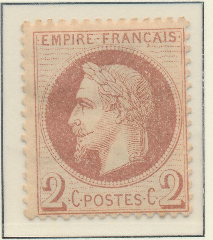 France Stamp Scott #30, Mint, Hinge Remnant, Original Gum - Free U.S. Shippin...