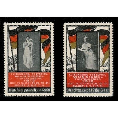 Germany 1912 Luisenburg-Festival Poster Stamps