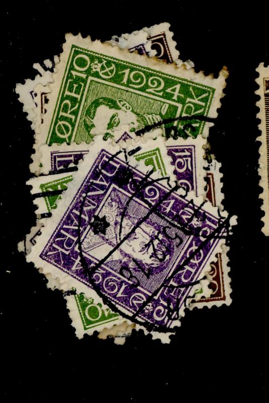 Denmark #164-75 Used F-VF Cat$93