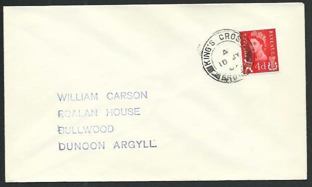 GB SCOTLAND 1969 cover KING'S CROSS / BRODICK, Isle of Arran cds..........66624*
