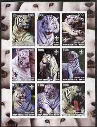 Benin 2003 Tigers #1 imperf sheetlet containing set of 9 ...