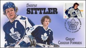 CA16-037, 2016, FDC, Canadian Forwards, Darryl Sittler, Day of Issue,