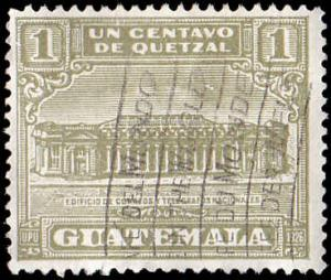 Guatemala Scott RA2 Post Office and Telegraph Building Used