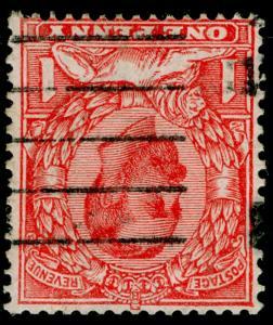SG336 SPEC N10b(2),1d pale scarlet, USED. Cat £30. WMK INV