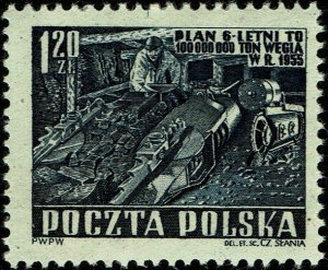 Poland #533  MNH - Miner, Czeslaw Slania Engraver (1951)