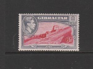 Gibraltar GV1 1938/51 6d P13.5 MM SG 126