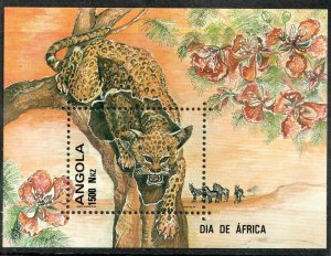 1993  ANGOLA  -  SG. MS 1020   -  LEOPARD  -  UNMOUNTED MINT