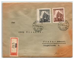 Bohemia Moravia 1944 Cover Prag Registered - Z13841