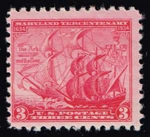 US #736 Maryland Tercentenary; MNH (0.40)